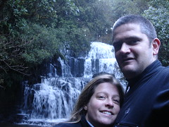 Us at Purakaunui Falls