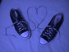 blue converse heart