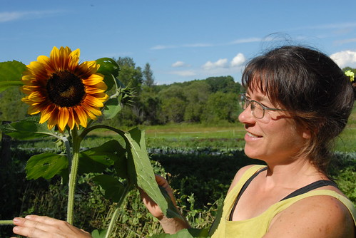 Billi and the sunflower