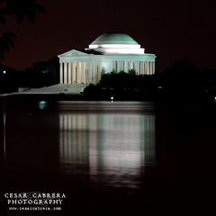 A Light in the Dark (Cesar R.) Tags: nightphotography light reflection night d50 dark washingtondc dc nikon memorial bravo nocturnal nikond50 basin jefferson tidal jeffersonmemorial anawesomeshot infinestyle superhearts excellentphotographerawards