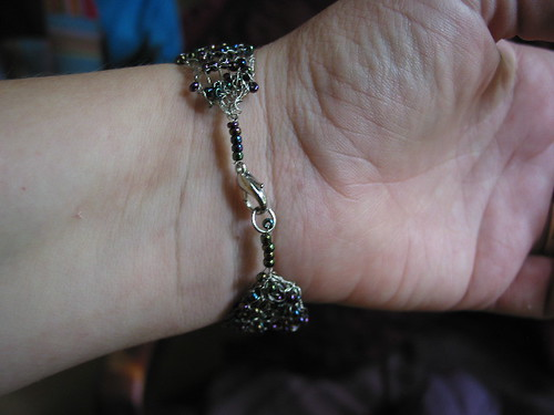 another knitter wire and bead bracelet
