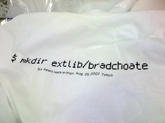 T-Shirt for SixApart Japan hack-a-thon attendees