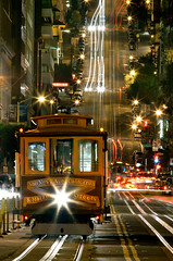 California Street cable car (!STORAX) Tags: sanfrancisco california usa night unitedstates unitedstatesofamerica save3 save7 save8 delete save save2 save9 save4 cablecar save5 save10 save6 californiastreet cpt savedbydeletemeuncensored urbangondola cablepropelledtransit
