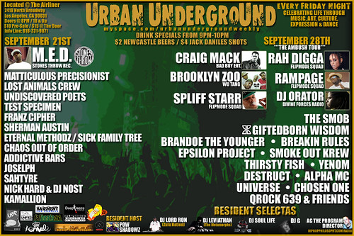 Urban Underground Sept 28
