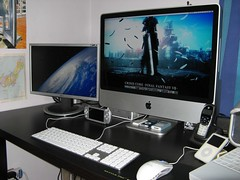 iMac Setup 280907 - 028.JPG (RyuWorks) Tags: apple psp video imac ipod sony mini leopard remote nano iphone razer applekeyboard pspslim imac4g imac4thgen imacalu razerproclick