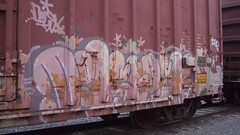 CIMG0057 (Making Stuff Blog) Tags: trains bnsf boxcarart fr8trains texasgraff texasbenching texasfr8s texasgraffitifreighttrains goldenwestservicefr8s