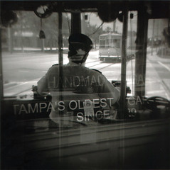 handmade in Tampa (akaiam) Tags: tampa exposure florida trolley hc110 double diana hp5 ybor