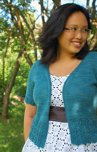 Bellevue Cardigan, fingering weight