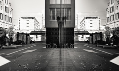 Always look both ways (MeckiMac) Tags: leica reflection building delete10 architecture delete9 delete5 delete2 switzerland europe architecturaldetail delete6 delete7 streetphotography zug delete8 delete3 delete delete4 save m8 categories worldregionscountries leicam8