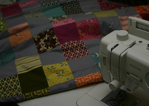 Flower Valley Quilt - the quilt-a-thon starts