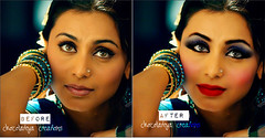 Rani Mukherjee Before & After (DDesigns) Tags: makeup before bollywood after rani mukherjee mukherji