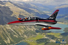 Jet flight L-39 Albatros: Switzerland, close to St. Moritz (MiGFlug Warbird Rides) Tags: sion swissalps militaryjet l39albatrosflight jafch