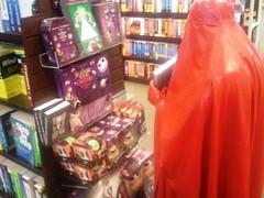 Jack Skelington and Sally (latexladyll) Tags: public fetish shopping rubber latex burqa