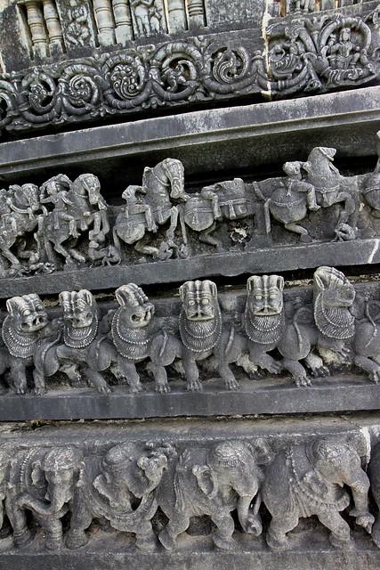 4 Layer frieze at Chennakesava Temple Complex, Belur (Karnataka)