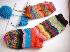 Trinity's scrap socks