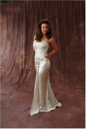 Ivory Evening Dress for Wedding Party 1