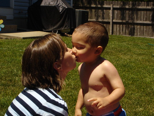 Mason loves his mommy