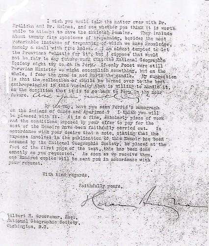 Carta de Hiram Bingham del 28.11.1916 (2)