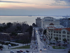 White Tower Thessaloniki. View from the OTE Tower (Zopidis Lefteris) Tags: sunset white tower hellas greece thessaloniki allrightsreserved whitetower ellas ellada ote sonydsc717 lefteris  eleftherios      zop     otetower  zopidis zopidislefteris     sunsetinthessaloniki   ymcathessaloniki  leyteris        photographerczopidislefteris c heliographygroup heliographygroupmember photographerzopidislefteris  photographerzopidislefterisc c  allphotosarecopyrightedbyzopidislefteris  copyright