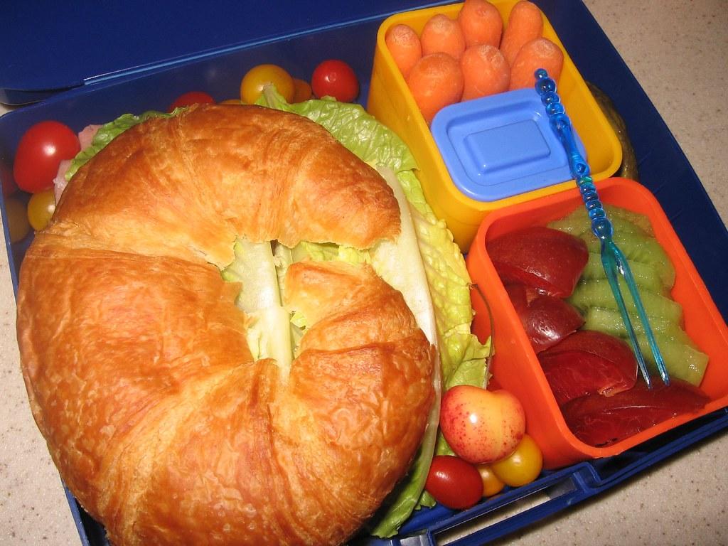 Roast Beef Croissant Sandwich Bento