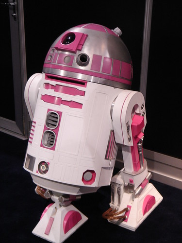 Pink exclusive R2 at the hasbro booth.