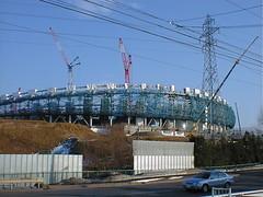 建造中の札幌ドーム