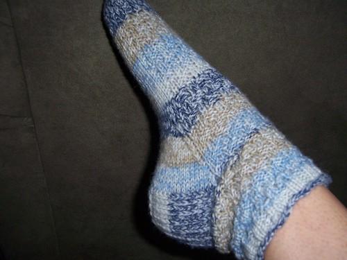 Basket weave sock