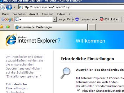 Neuer Internet Explorer