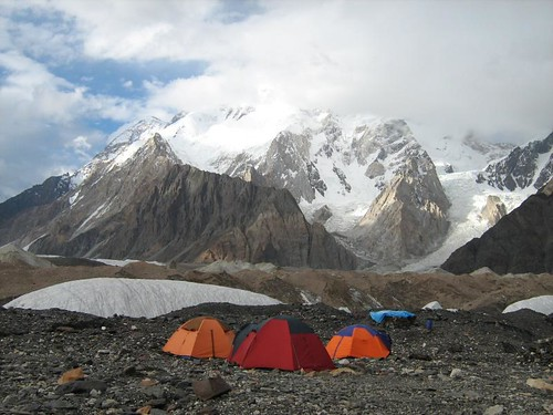 Tents and broad peak,