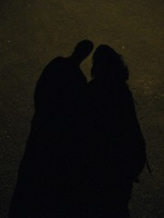 "Fun with shadows. I'm the one with ""big hair."" :D"