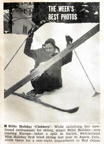 Billie Holiday Skiing in Zurich - Jet Magazine Feb 25, 1954 por vieilles_annonces.