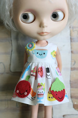 (Button Arcade) Tags: food wool doll dress felt fabric kawaii blythe pockets artfire buttonarcade berrysprite spoonflower