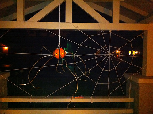 Bruce's awesome homemade Halloween decorations