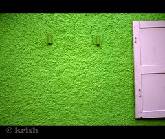 Green wall (Krish | ) Tags: green window wall nikon synagogue kerala jews hebrew cochin kochi krish d60 fortcochin jewstreet colorphotoaward colouredwall embroideryshop
