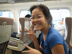 Diane on the Bullet Train