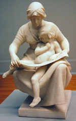 Alfred Gilbert - Mother Teaching Child - Tate Britain Sep 2010 full view (ketrin1407) Tags: sculpture statue education child tate victorian mother teaching scroll tatebritain alfredgilbert newsculpture