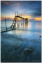 We miss the most when everything is lost (SHAZRAL) Tags: sunset sea seascape beach canon eos malaysia pantai jeram selangor ef1740mmf4lusm noeditting azralfikri shazral 5dmark2