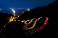 Light trails on the S curve road, Jioufen, Taiwan (Fishtail@Taipei) Tags: topf25 taiwan lighttrails scurve jiofen abigfave superaplus aplusphoto