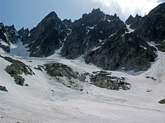Lower moraine of Colchuck Glacier.