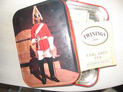 T is for Twinings Tea (the inside of the tin)