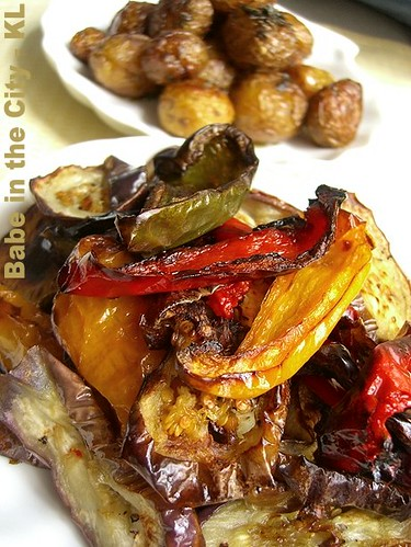 Roasted Capsicums and Brinjal