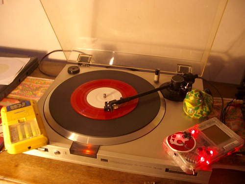 Red Noise Vinyl on record player