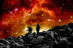 Schiehallion descending Nebula Mashup Madness (Semi-detached) Tags: light mountain field born star scotland rocks boots hiking birth july gas climbing nebula aberfeldy climbers 2007 ecosse munro peopleschoice schiehallion superhearts