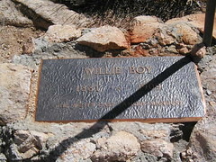 Willie boy's Grave Marker in White Water
