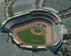 It was at Dodger Stadium I saw them perform.