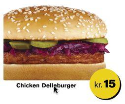 Chicken Delleburger at McDonalds Denmark
