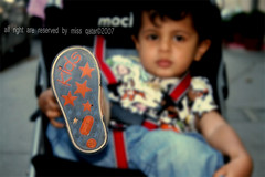 Bye Bye cookie ='( (Missy | Qatar) Tags: boy baby cute love kids shoe cookie you p bye miss booboo boga mubarak  barook bogaboga brooky booleka