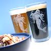 pint_mermaid3 (BreadnBadger) Tags: ocean etched woman sexy cup beer glass engraving nautical mermaid pint glassware tumbler beerglasses etchedglass pintglasses sandblasting sanblasted etchedglassware breadandbadger