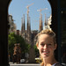 MEGAN with La Sagrada Familia bg