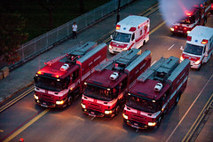 Rolling Red I (KNL-17) Tags: mercedes nikon singapore ambulance fireengine scania pumper cr1 scdf mobilecolumn singaporecivildefenceforce d700 nikkorafs70200mmf28gvr scaniap270 pumpladder pl131 pl411 ndp2010 pl222 skrosenbauer